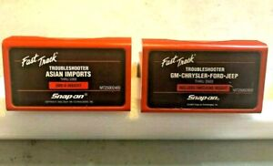 2 Snap On Mt2500 Scanner 2000 Domestic And 2000 Asian Troubleshooter Cartridges