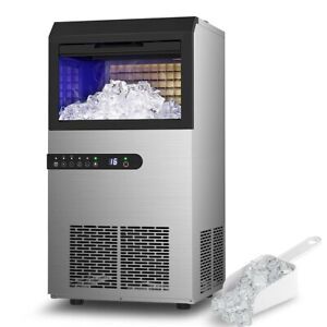 Lifeplus Commercial Ice Maker Machine 100lbs Daily Ice Cube Maker 45 batch In