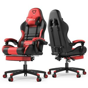 Computer Gaming Office Chair For Executive Comfortable Seating With Footrest