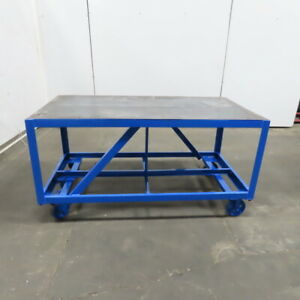 3 16 Thick Top Steel Fabrication Layout Welding Table Work Bench 60x31x31 1 4