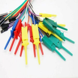10 Pcs 28cm Lead Wire Test Hook clip For Logic Analyser Dupont Cable For Arduino