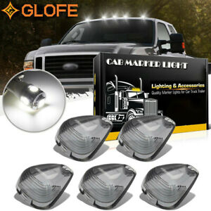 Smoked Cab Roof Running Marker Light Cover Lens For Ford F250 F350 Super Duty