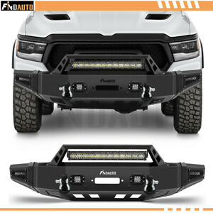 For 2019 2021 Ram 1500 Front Bumper W Winch Plate Led Lights D Rings