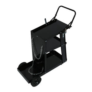 Iron 3 Tiers Rolling Welding Cart With Wheels For Tig Mig Welder Plasma Cutter
