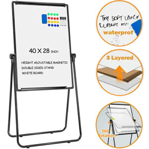 40 x28 Magnetic Dry Erase Easel White Board W Stand Rotate Height Adjustable