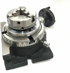 4 100 Rotary Table 65 Mm 3jaw Chuck Milling Indexing Machine Tools Usa