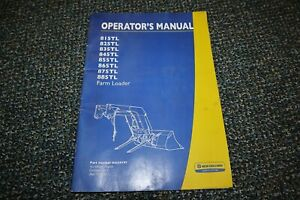 New Holland 815tl 885tl Tractor Loader Operator 10 11 Manual Free Shipping