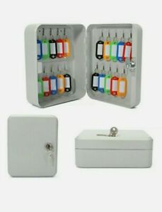 20 Key Hook Wall Mount Lock Box Safe And Secure Storage Cabinet New