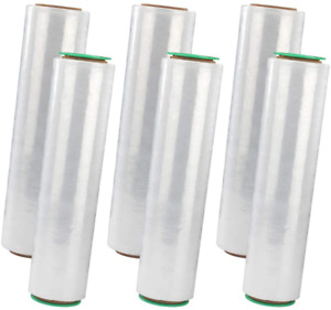 6 Rolls 1500 Stretch Wrap Industrial Strength Thicker Durable Banding Plastic
