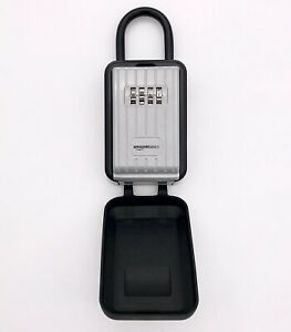 Portable Key Storage Box With Waterproof Cover Combination Lock Black