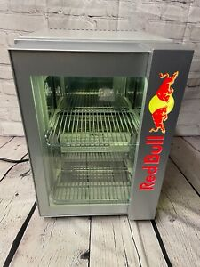 Red Bull Baby Cooler Led Mini Fridge Table Top Eco Cooler Very Rare Works Great