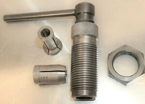 CLEAN FORSTER COLLET TYPE BULLET PULLER WITH 22 CAL COLLET #2 TRIMMER COLLET $42.00