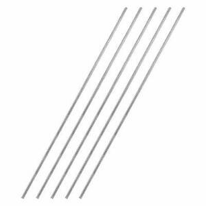 Awclub 2mm X 300mm 304 Stainless Steel Solid Round Rod Lathe Bar Stock For Sh