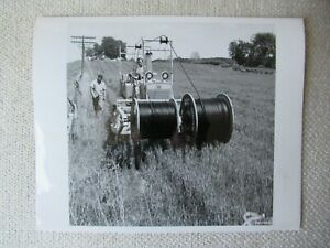 Ih International Harvester Crawler Tractor Cable Laying Photo 8x10