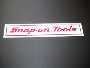 Snap On Tools Vintage Reflective Sticker Decal Box Chest Screwdriver Wrench Usa