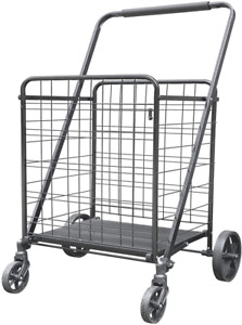 Xinglang Folding Shopping Cart Collapsible And Heavy Duty Grocery Cart Easy Mo