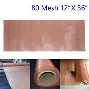 Roll 80mesh Copper Insect Screen Vent Filter Woven Wire Sheet Screen Practical