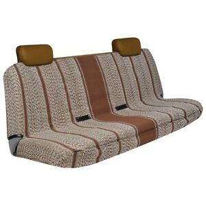 Brown Saddle Blanket Bench Seat Cover
