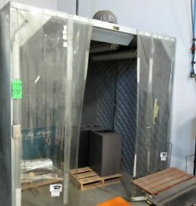 Airflow Systems Inc Dcb1 pg6 regain Open Front Dust Control Booth 8 wx8d x8 h