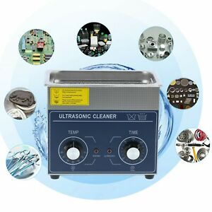 Ultrasonic Cleaner Knob Type Stainless Steel Cleaning Machine 3l With Basket