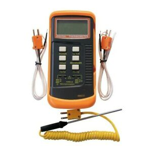 Dual Channel Lcd Thermometer Meter Single Input K Type W thermocouple Probe