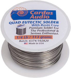 Cardas Soldering Wire Quad Eutectic Silver Solder With Rosin Flux 1 4 Lbs 113g