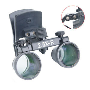 2 5x Dental Loupes Plastic Clip Type Surgical Medical Binocular Magnifier Glass