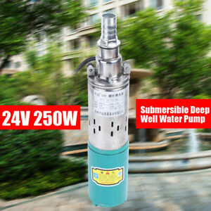 Electric Solar Water Pump 24v 250w Farm Ranch Submersible Bore Hole Deep Well Us