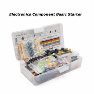 Basic Beginners Electronics Prototyping Breadboard With Components Kit Supply
