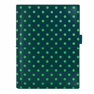 Filofax 2021 Domino Patent Pine With Spots A5 6 Rings Includes Week On 2 Pa