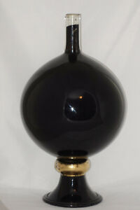 Antique Black Show Globe Carboy Glass Vessel Pharmacy Apothecary Drug Store