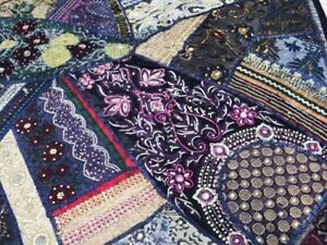 60 Stunning Ind Art Ethnic D Cor Sari Beads Sequin Lace Wall Hanging Tapestry