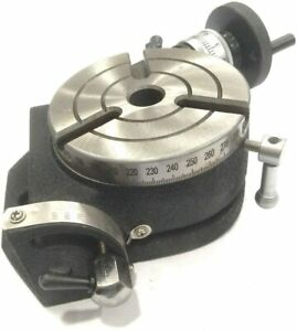 4 Inch 100 Mm Tilting Rotary Table With Mt2 Bore milling Lathe Indexing usa