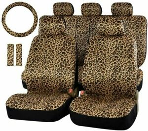 Full Set Of Car Seat Cover Leopard Print Car Protective Cover Auto Parts