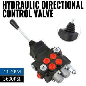 11 Gpm 2 Spool Hydraulic Directional Control Valve Tractor Loader W Joystick