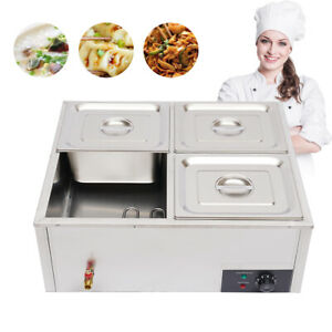 4 pan Countertop Food Warmer Electric Steam Table For Buffet Commercial