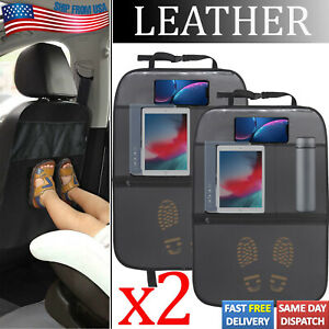 New Listing2x Car Seat Back Protector Cover Waterproof Leather Kick Mat Anti Kicking Padded Fits Pontiac Acadian