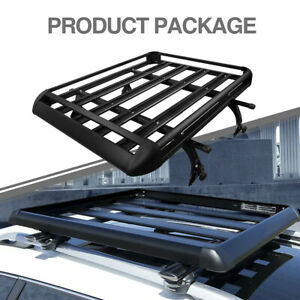 50 X 38 Roof Rack Black Luggage Cargo Carrier Top Basket For Car Suv Truck
