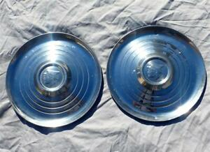 Oem 1952 1953 Mercury Wheel Covers Stainless 1966 Ford Bronco Hubcaps Real Deal