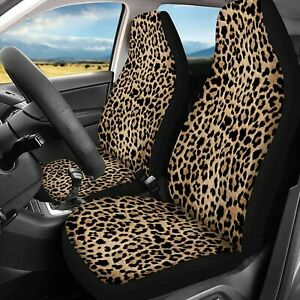 Trendy Leopard Animal Print Car Seat Covers Set Of 2 Leopard Pattern Car Covers