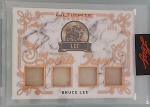2021 LEAF ULTIMATE SPORTS BRUCE LEE 4 20 QUAD GAME USED RELIC ICONS RARE LEGEND $799.99