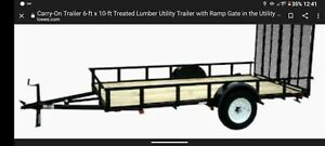 Lowes 6x 10 Flat Utility Trailer Brand New Cost 2200
