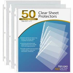Ktrio Sheet Protectors 8 5 X 11 Inch Clear Page Protectors For 3 Ring Binder