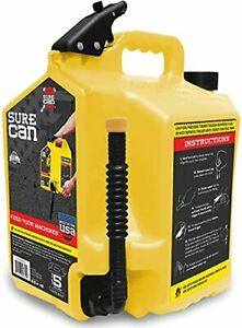 Surecan 5 Gallon Self Venting Diesel Fuel Can Container With 180 Degree Rotat