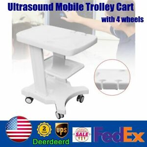Mobile Trolley Cart For Portable Ultrasound Scanner System Four Wheels Two Brake
