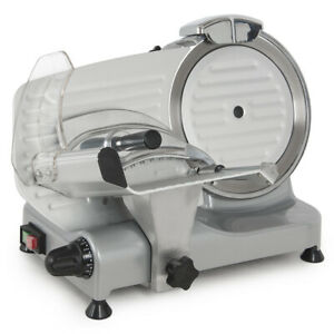 New 250w 10 Kitchen Deli Meat Slicer Electric 550rpm Cheese Food Slice Machine