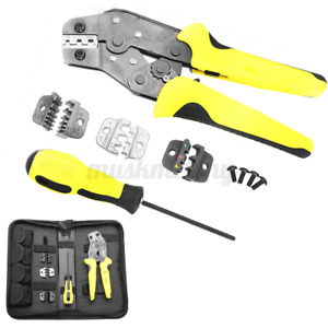 Us Jx d4 4 In 1 Dies Cable Wire Ratchet Crimper Crimping Pliers 4 Spare To