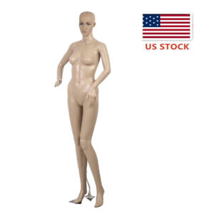 69 Inch Female Full Body Mannequin Stand Realistic Manikin Dress Form With Base