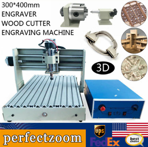 4 Axis Cnc 3040 Router Engraver Engraving Carving Mill Drilling Machine Parallel