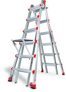 26 1a Demo Little Giant Ladder W Platform Wheels